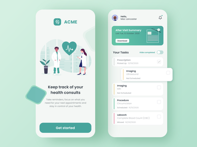 Medical Mobile App user interface user experience ui design medicine medical mobile design mobile app mobile ui design app app medical app health healthcare doctor hospital clinic
