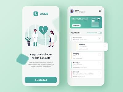 Medical Mobile App user interface user experience ui design medicine medical mobile design mobile app mobile ui design app app medical app health healthcare doctor hospital clinic