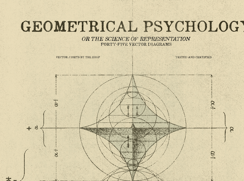 Geometrical psychology diagrams scientific 1880s victorian era scientific illustration science psychology vintage geometry geometric asset worn aged aged vector esoteric retro vintage geometry vector assets the shop