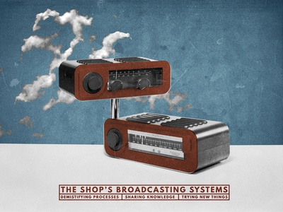 First broadcast the shop textured twitch streaming vintage radio