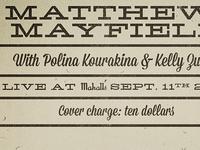 Matthew Mayfield / Polina Kourakina / Kelly Zullo poster