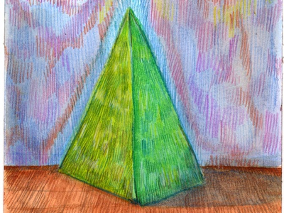 Volumes II colored pencil watercolor art watercolor