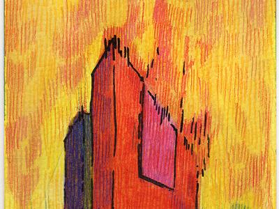 Volumes XII colored pencil watercolor art watercolor