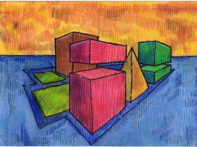 Volumes XVI colored pencil watercolor art watercolor