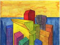 Volumes XIX colored pencil watercolor art watercolor