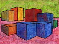 Volumes XX colored pencil watercolor watercolor art