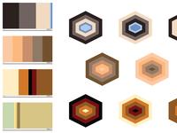 Trixel Tent - Color palette exploration