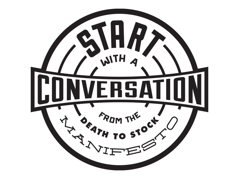 Start with a conversation - Badge by Simon H  | Dribbble | Dribbble