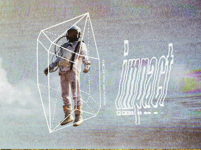 #collageretreat 057. 12/28/2020. surreal sbh the shop typography distorted type crystal astronaut weird textured collage digital collage collage art