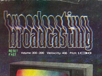 #collageretreat 074. 01/16/2021. sbh the shop glow spectrum color spectrum television typography distorted type surreal weird textured collage retreat digital collage collage art