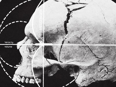 #collageretreat 080. 01/21/2021. sbh the shop black and white diagram graph skull typography surreal weird textured collage digital collage collage art collage retreat