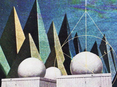 #collageretreat 109. 02/19/2021. expo67 abstract trees architecture diagram typography distorted type scanner type surreal weird textured illustration digital illustration digital collage collage collage art