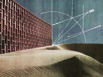 #collageretreat 125. 03/09/2021. sbh the shop dunes architecture diagram scanner type typography surreal weird textured illustration digital illustration collage digital collage collage art collage retreat