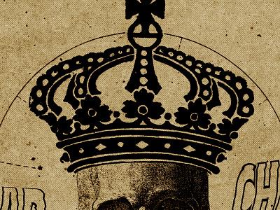 #collageretreat 132. 03/19/2021. crown distorted type human skull skull scanner type typography weird surreal textured illustration digital illustration digital collage collage collage art collage retreat