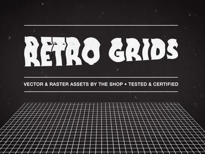 It's time to get our grids on mesh rendering high resolution graph paper imperial units hand-drawn grid mid-century modern vaporewave retrowave synthwave retro distorted distorted grids scanner distortion grids grid the shop sbh
