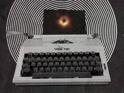 #collageretreat 153. 05/05/2021. sbh the shop black hole typewriter typography scanner type surreal weird textured illustration digital illustration digital collage collage collage art collage retreat