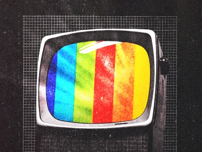 #collageretreat 168. 10/03/2021. typography scanner type color spectrum rainbow vintage television surreal weird textured illustration digital illustration digital collage collage retreat collage art collage collageretreat