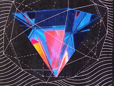 #collageretreat 169. 10/04/2021. color spectrum prism gem diagram surreal weird textured digital illustration illustration digital collage collage art collage collage retreat collageretreat