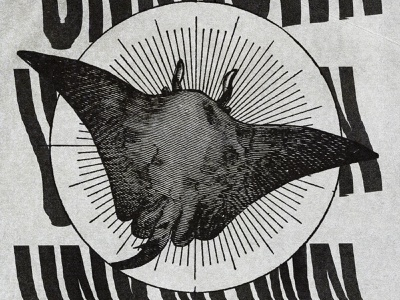 #collageretreat 170. 10/06/2021. sbh the shop distorted type scanner type typography manta ray surreal weird textured illustration digital illustration digital collage collage collage art collage retreat collageretreat