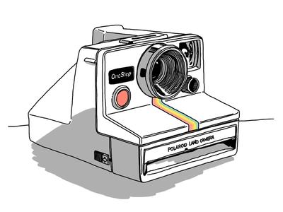 Polaroid OneStep, take 2 wacom bamboo illustration drawing sketchbook pro ipad polaroid