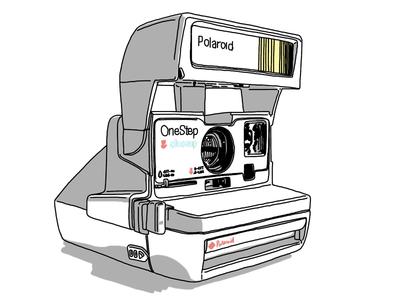 Polaroid OneStep CloseUp, take 2 wacom bamboo illustration drawing sketchbook pro ipad polaroid