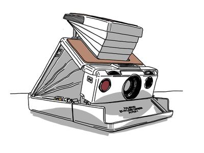Polaroid SX-70 Alpha 1 camera polaroid sx-70 analog sketchbook pro ipad sketch wacom bamboo drawing illustration