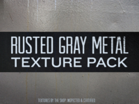 Rusted gray metal texture pack