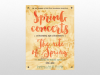 A bright and cheery spring concert poster