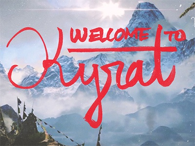 Far Cry 4 - Welcome to Kyrat far cry 4 far cry ubisoft brush pen fun video game gaming lettering hand lettering fan art kyrat mountain