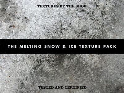 The melting snow & ice texture pack the shop speckles ice cold soft grit grain grunge textures winter texture pack snow