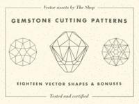 Gemstone cutting pattern vector elements