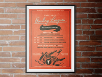 Design a Retro Style Bowling Party Poster
