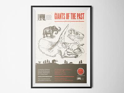 A prehistoric dinosaur themed poster