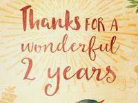 An artistic birthday card