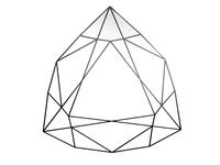 Gemstone cutting patterns vector elements, round deux