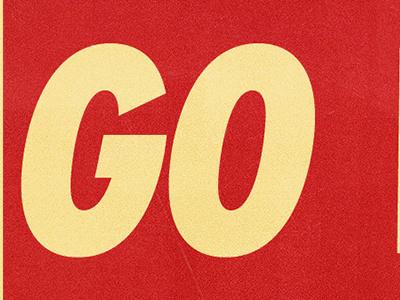 GO VOTE gill sans ziggurat acropolis knockout mission gothic cbs radio cleveland us election go vote