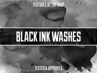 Black ink wash textures