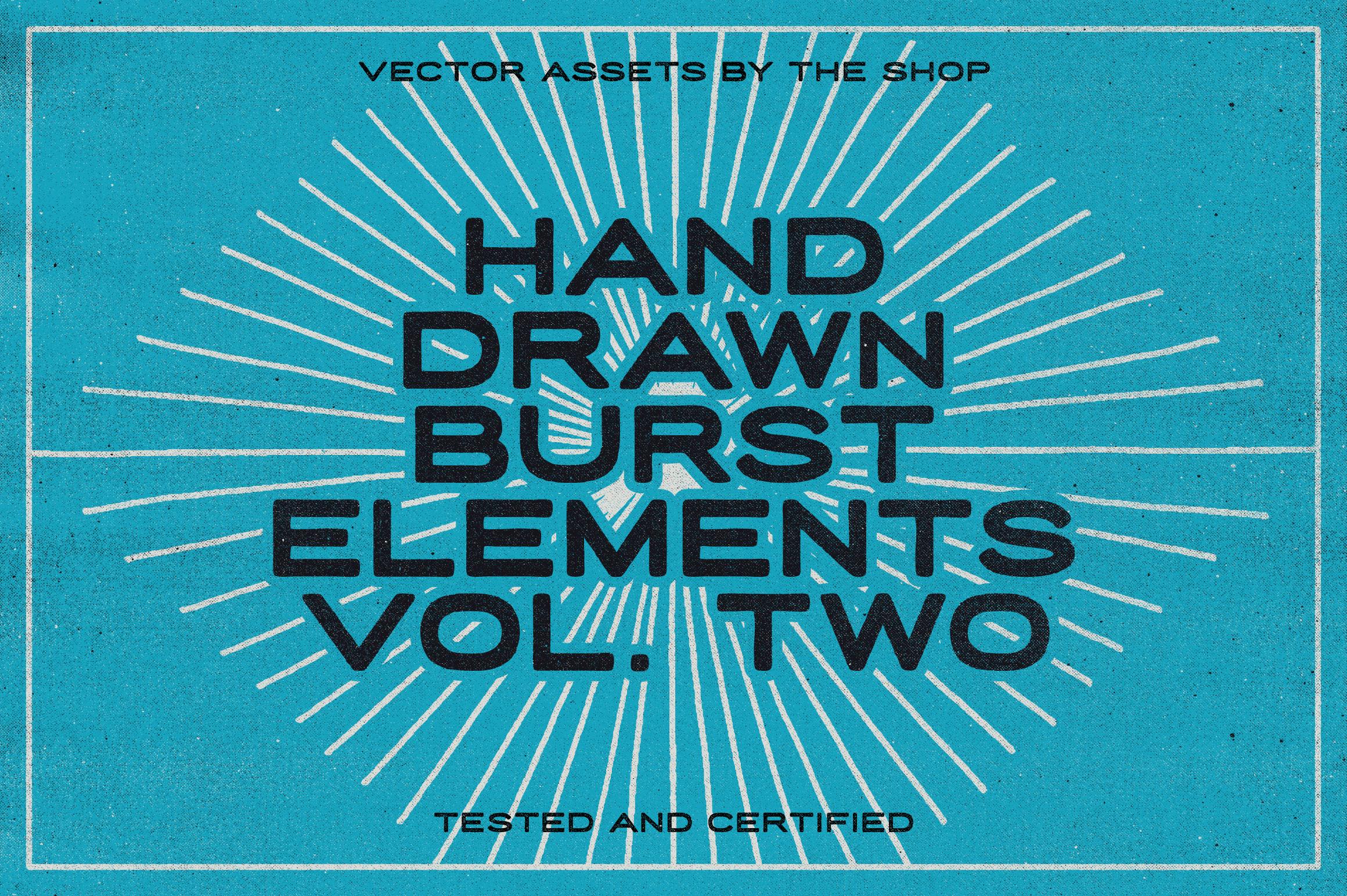 The shop hand drawn burst elements volume 02 hero shot rev 01