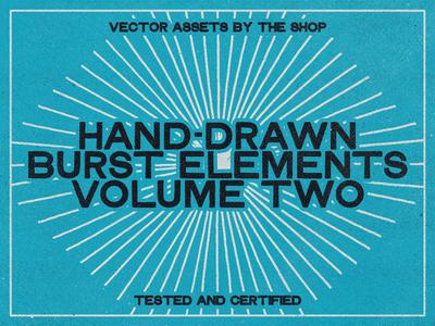 Hand-drawn burst elements, volume 02 (36 new bursts!)