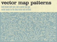 World, meet the hand-drawn vector map patterns!