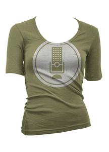 Saos the globe donation drive apparel women front rev 01 alt mockup dark green