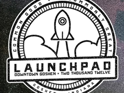 Launchpad - Rocket circle badge III - New banner launchpad branding rocket badge onramp the launchpad