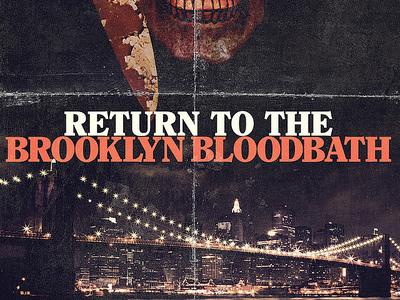 Return to the Brooklyn Bloodbath 80s horror movie poster