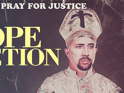 Pope Fiction pope sherilyn fenn pope fiction nicolas cage grindhouse ashley laurence movie poster