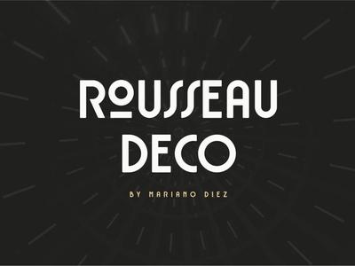 Rousseau Deco is an Art Deco font Free