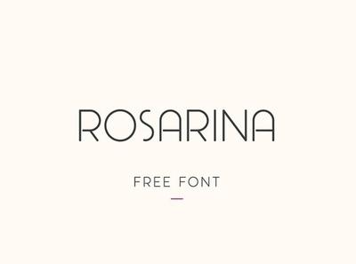 Rosarina Uppercase light font Free