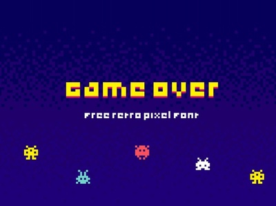 Game Over Retro pixel Font Free