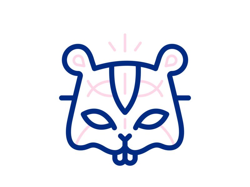 Mardi Gras Hamster Mask