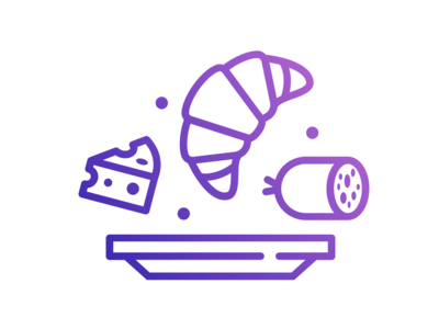 Breakfast Icon for a Coffee Shop