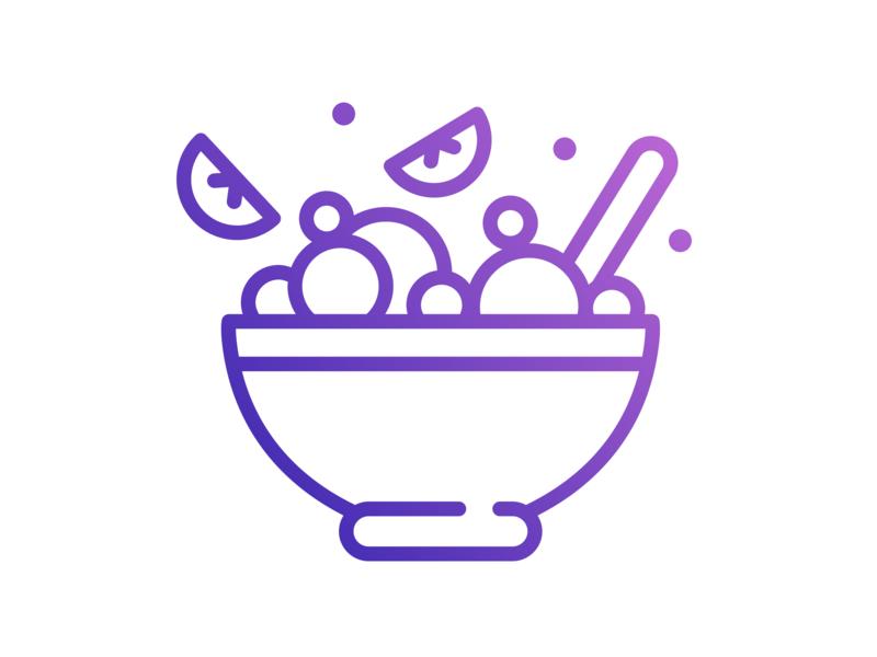 Porridge Bowl Icon for a Coffee Shop